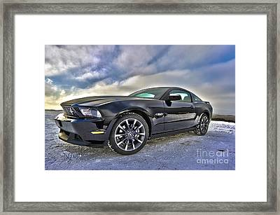 ford mustang car HDR Framed Print by Paul Fearn