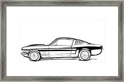 Ford Mustang Classic Framed Print by Steve K