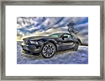 Ford Mustang - Featured In Vehicle Eenthusiast Group Framed Print by EricaMaxine  Price