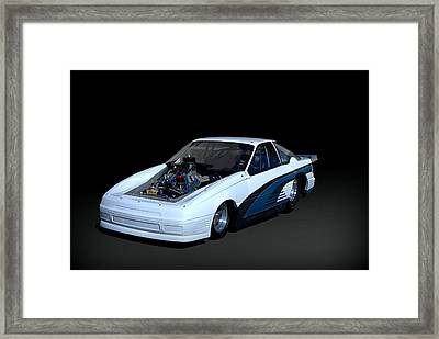 Ford Mustang Funny Car Dragster Framed Print by Tim McCullough