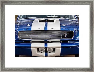 Ford Mustang Grille Emblem Framed Print by Jill Reger