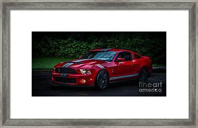Ford Mustang Gt 500 Cobra Framed Print