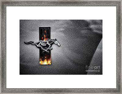 Ford Mustang Horse Framed Print by Tim Gainey