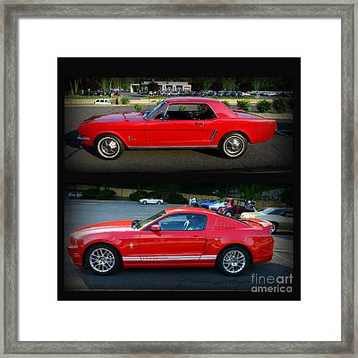 Ford Mustang Old Or New Framed Print by Paul Ward