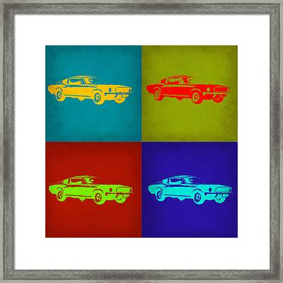 Ford Mustang Pop Art 1 Framed Print by Naxart Studio