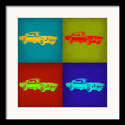 Ford Mustang Mixed Media Framed Prints