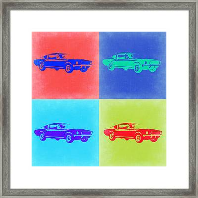 Ford Mustang Pop Art 2 Framed Print by Naxart Studio