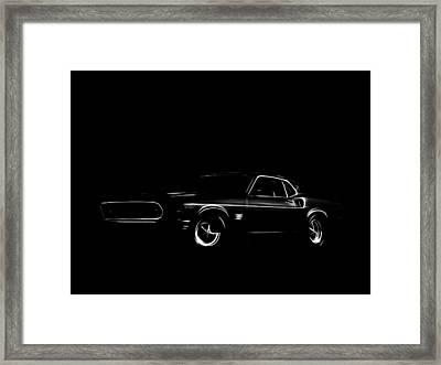 Ford Mustang  Framed Print by Steve K