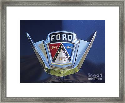 Ford On Blue Framed Print