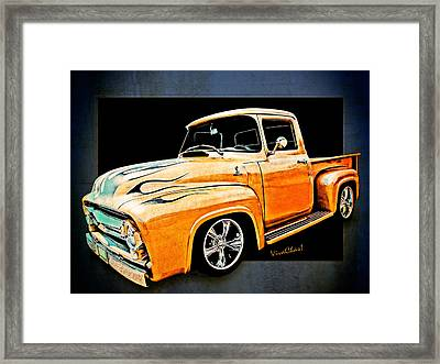 Ford Pickup In Flaming Gold Framed Print