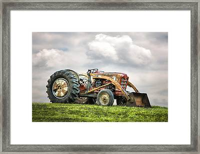 Ford Powermaster Tractor On A Hill Framed Print