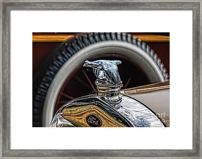 Ford Quail Radiator Cap Framed Print