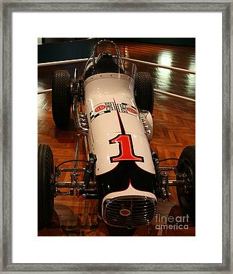 Ford Race Car Henry Ford Museum Framed Print by Bryan Maransky