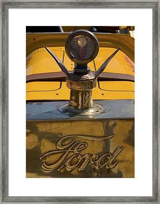 Ford Rajo 1915 Radiator Cap Framed Print by Scott Campbell
