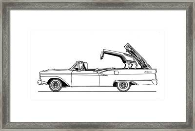 Retractable Ford Top Going Down Framed Print by Jack Pumphrey