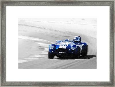 Ford Shelby Cobra Laguna Seca Watercolor Framed Print by Naxart Studio