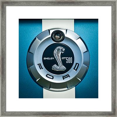 Ford Shelby Gt 500 Cobra Emblem Framed Print by Jill Reger