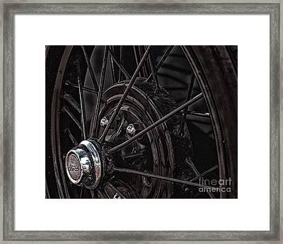Ford Spoke Wheel Framed Print