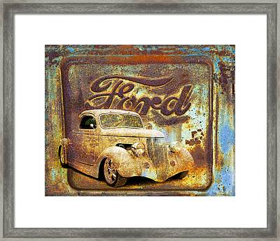Ford Coupe Rust Framed Print by Steve McKinzie
