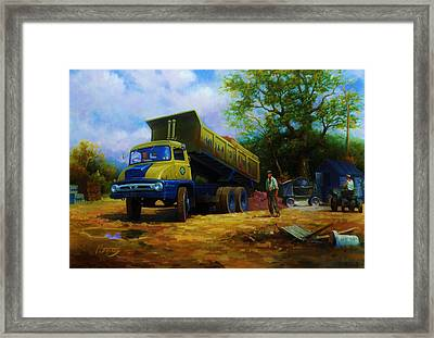 Ford Thames Trader Framed Print by Mike  Jeffries