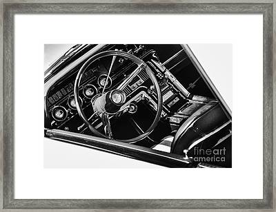 Ford Thunderbird Interior Monochrome Framed Print by Tim Gainey