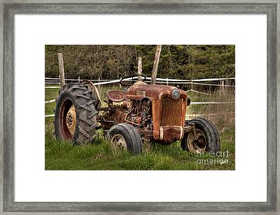 Ford Tractor Framed Print by Alana Ranney