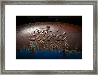 Ford Tractor Logo Framed Print