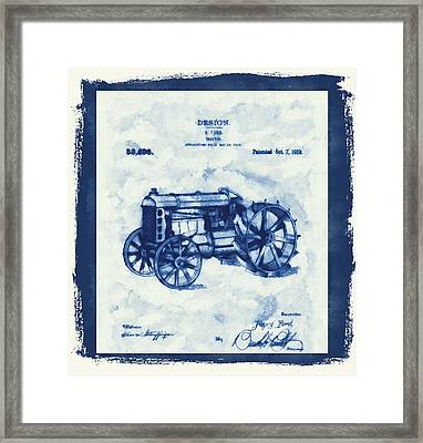 Ford Tractor Patent Framed Print
