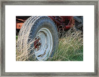 Ford Tractor Tire Framed Print by Jennifer Ancker