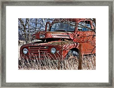 Dodge Truck  Framed Print by Jon Baldwin  Art