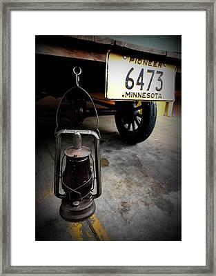 Ford Truck With Rear Dietz Kerosene Lantern Framed Print by Amanda Stadther