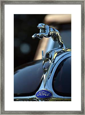 Framed Print featuring the photograph Ford V-8 Hood Ornemant by Dean Ferreira
