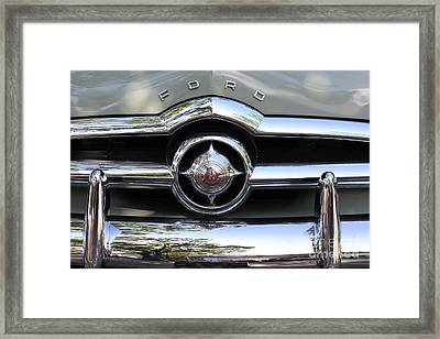 Ford V8 1949 - Vintage Framed Print by The Art of Alice Terrill
