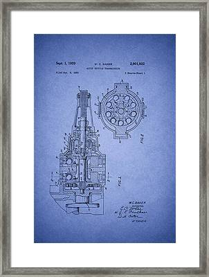 Ford Vehicle Transmission Patent 1959 Framed Print by Mountain Dreams