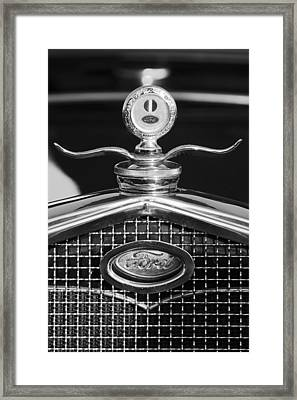 Ford Winged Hood Ornament Black And White Framed Print
