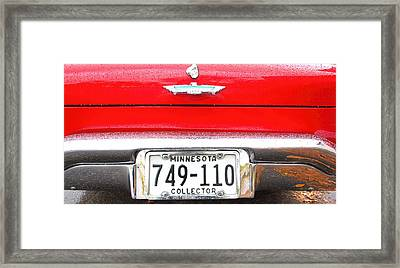 Ford With Minnesota Licence Plate Framed Print