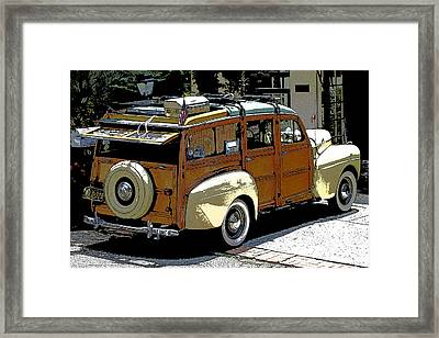 Ford Woodie Framed Print