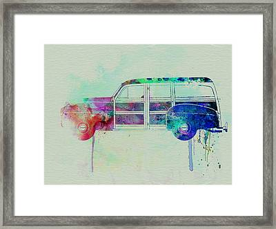 Ford Woody Framed Print by Naxart Studio