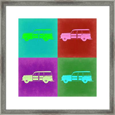 Ford Woody Pop Art  Framed Print by Naxart Studio
