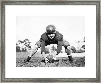 Fordham Football Center Framed Print by Underwood Archives