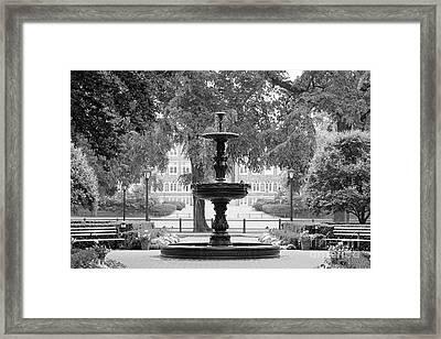 Fordham University Fountain Framed Print