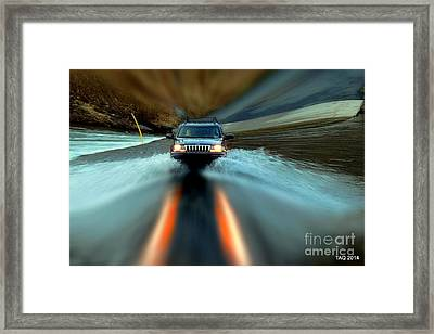 Fording The Jordan Framed Print