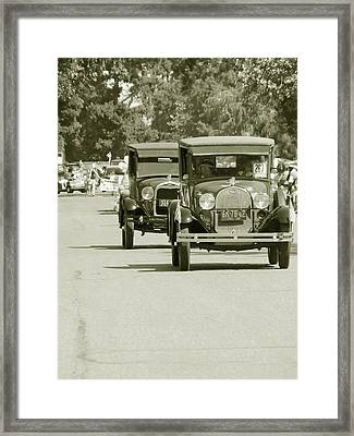 Fords On Parade Framed Print by Pamela Patch
