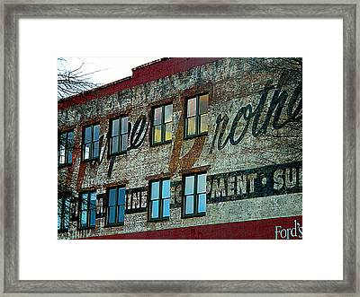 Fords Restaurant In Greenville Sc Framed Print