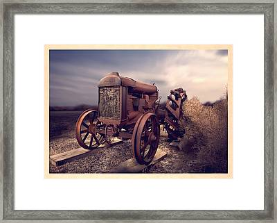 Fordson F Tractor Framed Print by Yo Pedro