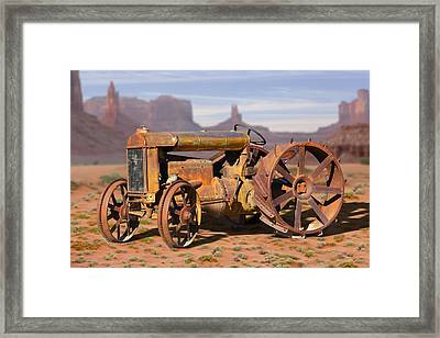 Fordson Tractor Framed Print by Mike McGlothlen