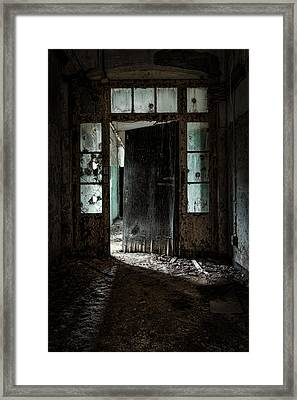 Foreboding Doorway Framed Print