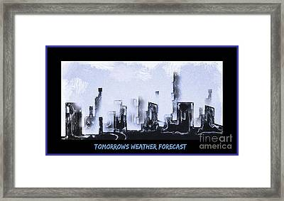 Forecast Framed Print by John Malone