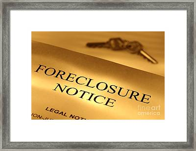 Foreclosure Notice Framed Print by Olivier Le Queinec