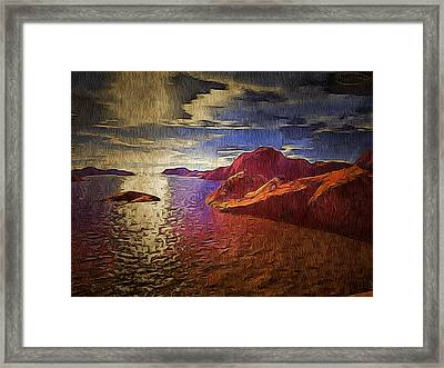 Foreign Terrage Landscape Framed Print by Mario Carini